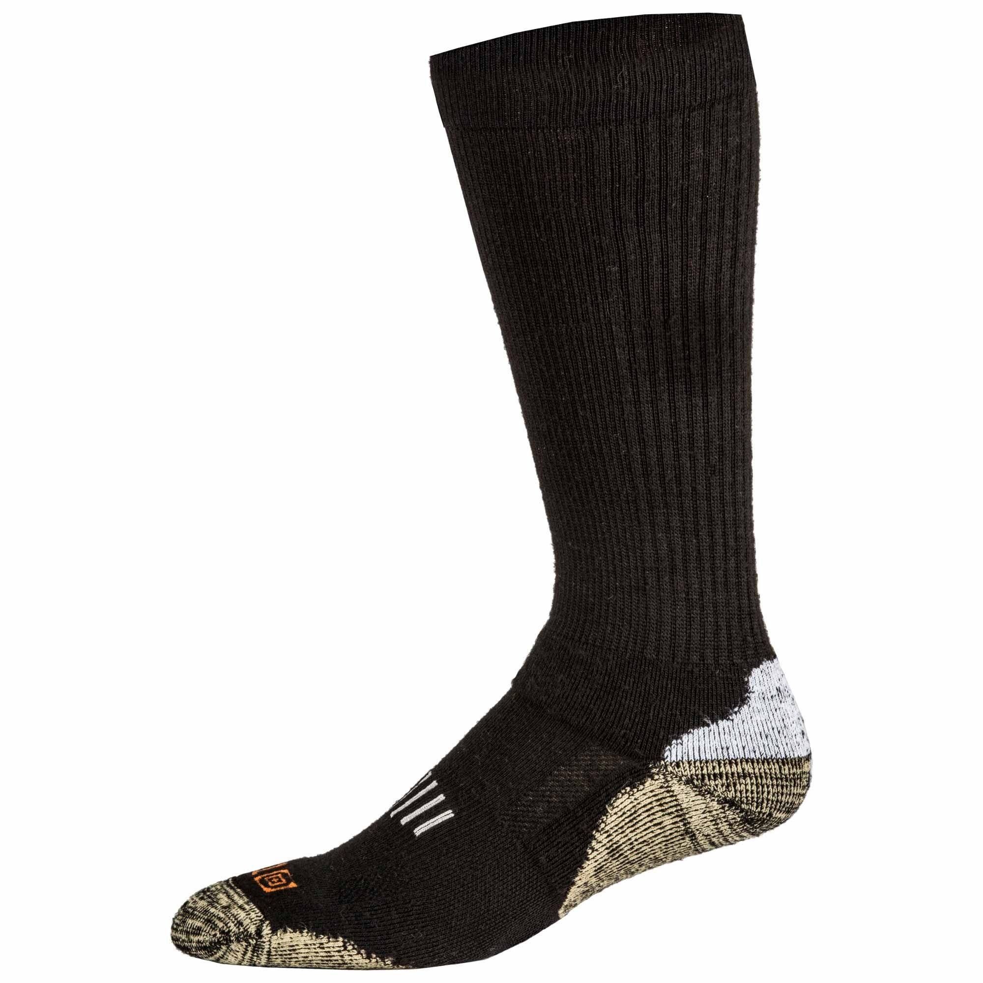 5.11 Tactical 10023BKSM 10023 Series Merino Wool Crew Sock, Unisex, Small, Black