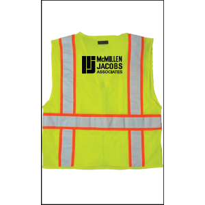 ML Kishigo 1195 All Mesh Contrast Class 2 Safety Vest, 2X-Large, Lime, McMillen Custom