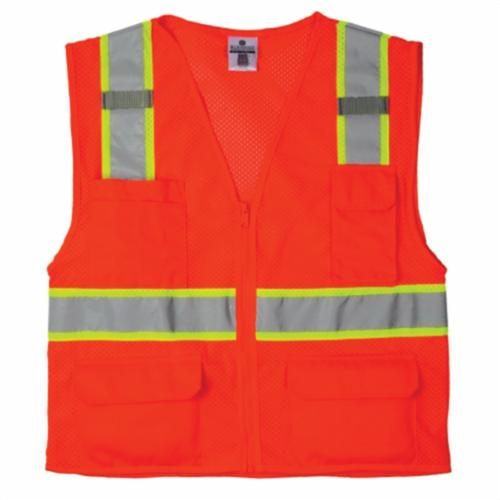 ML Kishigo 1195 All Mesh Contrast Class 2 Safety Vest, X-Large, Lime, McMillen Custom
