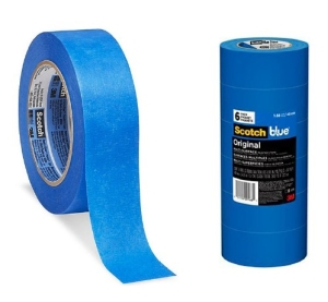 ScotchBlue™ 051115-09171 Painter's Masking Tape, 60 yd L x 0.94 in W, 5.4 mil THK, Acrylic Adhesive, Crepe Paper Backing