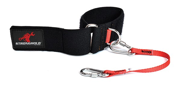 TY-FLOT DRWSSTRAP Cinching Wrist Strap, Holds up to 6 lbs Capacity, Black/Red