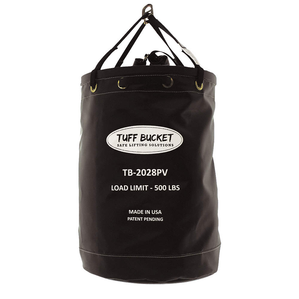 TY-FLOT TB10130CV 125 Pound Dual Load Rated Tool Bucket, 10 in Dia, 125 lbs Capacity, Canvas, Beige