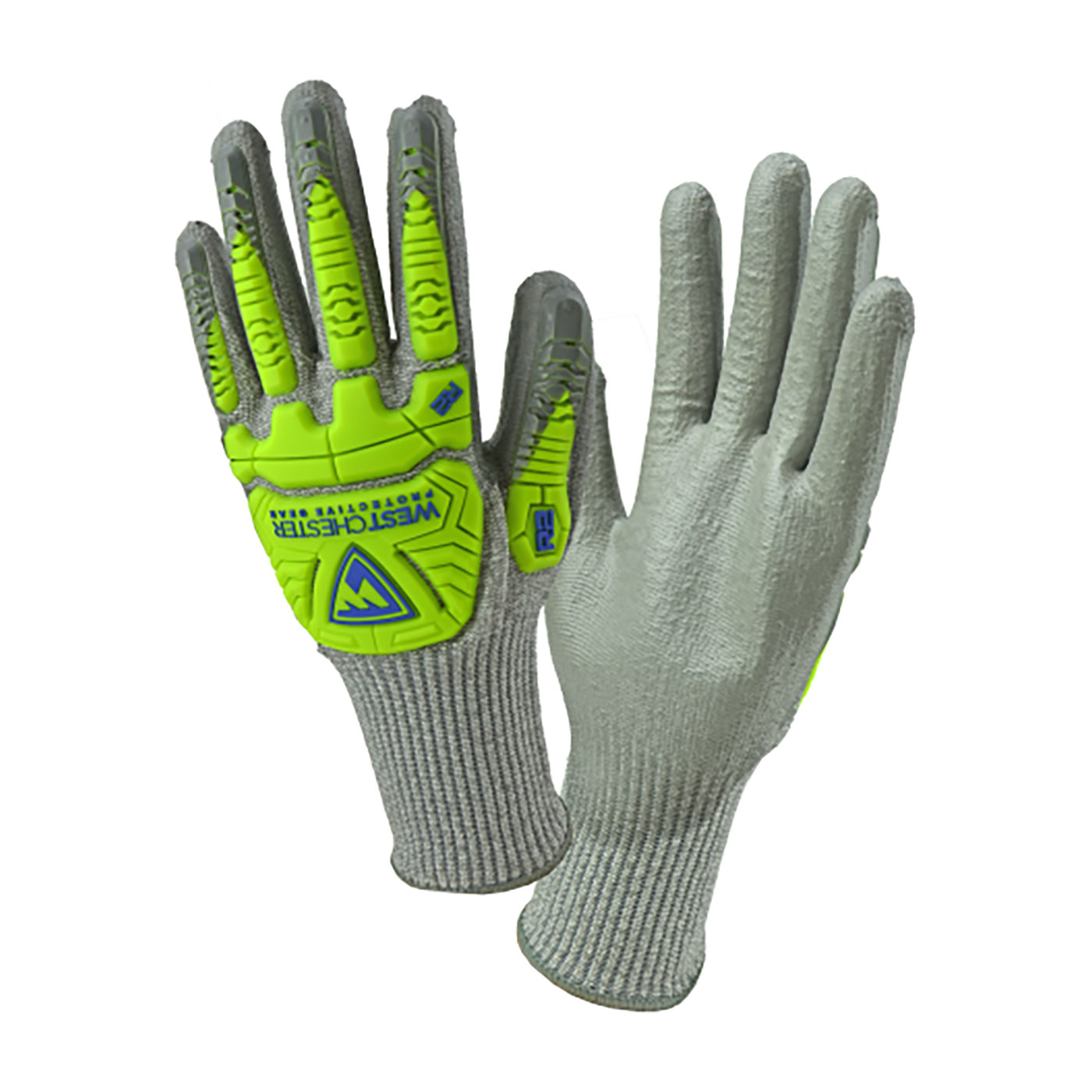 West Chester 710HGUBHVG L 710HGUBHVG R2™ Seamless Knit HPPE Blended Cut-Resistant Gloves, Large, HPPE, Gray, Rib Knit Cuff